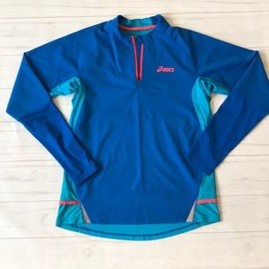 ASICS women's large blue pullover running top